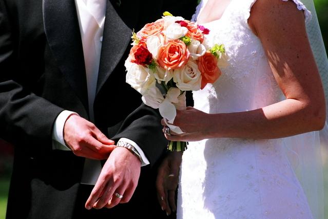 Ženích a nevesta, kvety